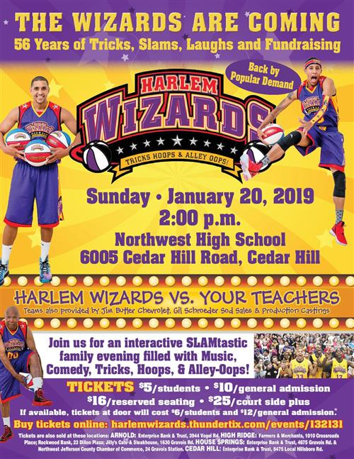 Get your tickets for the Harlem Wizards coming January 20