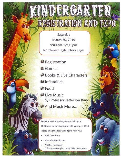 Kindergarten Registration & Expo March 30, 2019