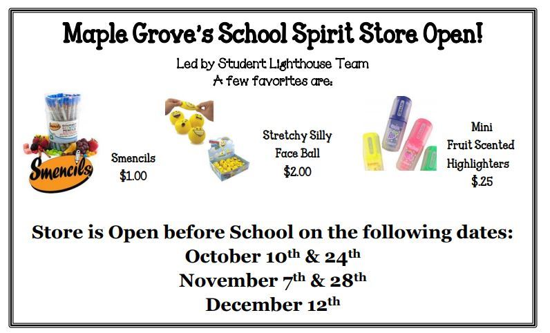 Spirit Store is Open!